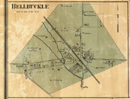 Bellbuckle Village, District 4, Bedford Co. Tennessee 1878 Old Town Map Custom Print Bedford Co.