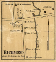 Richmond Village, District 19, Bedford Co. Tennessee 1878 Old Town Map Custom Print Bedford Co.