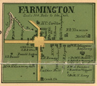 Farmington Village, District 6, 1899 Old Town Map Custom Print Marshall Co.