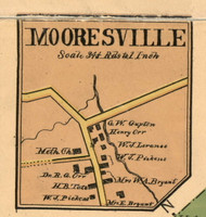 Mooresville Center Village, District 13, 1899 Old Town Map Custom Print Marshall Co.