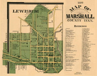Lewisburg Village, District 15, 1899 Old Town Map Custom Print Marshall Co.