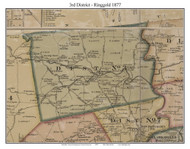 District No. 3 - Ringgold, 1877 Old Town Map Custom Print Montgomery Co.