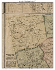 District No. 4 - Jordan Springs -Rose Hill, 1877 Old Town Map Custom Print Montgomery Co.