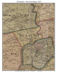 District No. 7 - New Providence, 1877 Old Town Map Custom Print Montgomery Co.