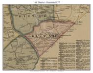 District No. 14 - Henrietta, 1877 Old Town Map Custom Print Montgomery Co.