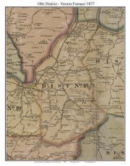 District No. 18 -Vernon Furnace, 1877 Old Town Map Custom Print Montgomery Co.
