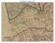 District No. 19 - Palmyra, 1877 Old Town Map Custom Print Montgomery Co.
