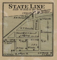 State Line, District No. 1, 1877 Old Town Map Custom Print Montgomery Co.