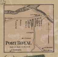 Port Royal Village, District No. 5, 1877 Old Town Map Custom Print Montgomery Co.