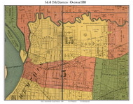 Districts 5 & 15 - Overton, 1888 Old Town Map Custom Print Shelby Co.