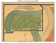 District 13 Ext - Horn Lake, 1888 Old Town Map Custom Print Shelby Co.