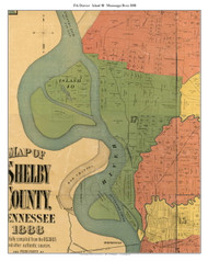 District 17 - Island 40, 1888 Old Town Map Custom Print Shelby Co.