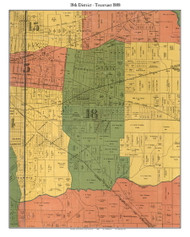 District 18 - Trezant - Spotswood, 1888 Old Town Map Custom Print Shelby Co.