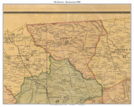 District 13 - Brackentown, 1878 Old Town Map Custom Print Sumner Co.