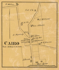Cairo Village, District 2, 1878 Old Town Map Custom Print Sumner Co.