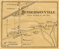 Hendersonville Village, District 5, 1878 Old Town Map Custom Print Sumner Co.