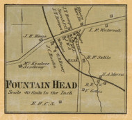 Fountain Head Village, District 14, 1878 Old Town Map Custom Print Sumner Co.