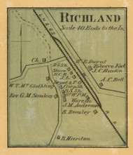 Richland Village, District 16, 1878 Old Town Map Custom Print Sumner Co.