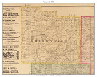 Greenville, Indiana 1882 Old Town Map Custom Print - Floyd Co.