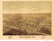 Abingdon, Illinois 1874 Bird's Eye View