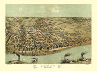 Alton, Illinois 1867 Bird's Eye View