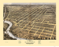 Danville, Illinois 1869 Bird's Eye View