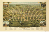 Mattoon, Illinois 1884 Bird's Eye View