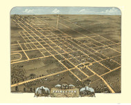 Princeton, Illinois 1870 Bird's Eye View