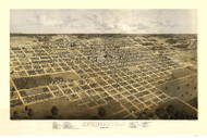 Springfield, Illinois 1867 Bird's Eye View