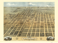 Champaign, Illinois 1869 Bird's Eye View