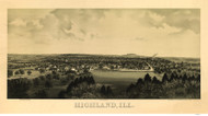 Highland, Illinois 1894 Bird's Eye View