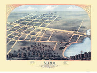 Loda, Illinois 1869 Bird's Eye View