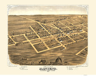 Manteno, Illinois 1869 Bird's Eye View
