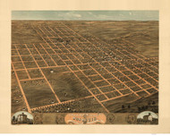 Monmouth, Illinois 1869 Bird's Eye View