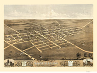 Mount Sterling, Illinois 1869 Bird's Eye View
