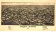 Mount Vernon, Illinois 1881 Bird's Eye View