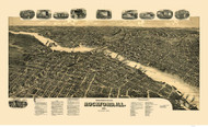 Rockford, Illinois 1891 Bird's Eye View
