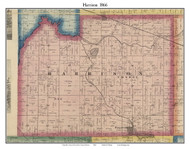 Harrison, Indiana 1866 Old Town Map Custom Print - Kosciusko Co.