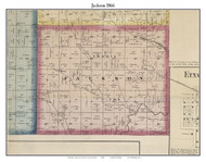 Jackson, Indiana 1866 Old Town Map Custom Print - Kosciusko Co.