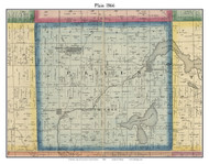 Plain, Indiana 1866 Old Town Map Custom Print - Kosciusko Co.