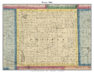 Prairie, Indiana 1866 Old Town Map Custom Print - Kosciusko Co.