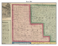 Scott, Indiana 1866 Old Town Map Custom Print - Kosciusko Co.