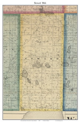 Seward, Indiana 1866 Old Town Map Custom Print - Kosciusko Co.