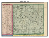 Turkey Creek, Indiana 1866 Old Town Map Custom Print - Kosciusko Co.