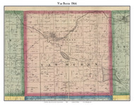 Van Buren, Indiana 1866 Old Town Map Custom Print - Kosciusko Co.