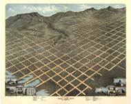 Salt Lake City, Utah 1870 Bird's Eye View
