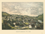 Brattleboro, Vermont 1855 Bird's Eye View