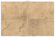Greene, Indiana 1863 Old Town Map Custom Print - St. Joseph Co.