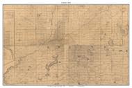 Greene, Indiana 1863 Old Town Map Custom Print - St. Joseph Co.