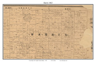 Harris, Indiana 1863 Old Town Map Custom Print - St. Joseph Co.